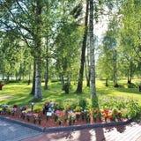 Día de verano en el cementerio Fotografía de archivo libre de regalías