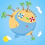 Día de verano en la tierra del planeta libre illustration