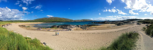 Día de veranos en la playa de Derrynane, condado kerry Irlanda Fotografía de archivo libre de regalías