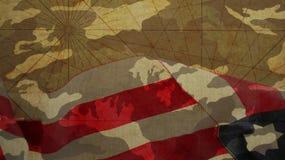 Día de veteranos Aeroplano de papel y camuflaje Foto de archivo libre de regalías
