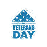 Día de veteranos en los E.E.U.U. Señale América por medio de una bandera doblada en el símbolo del triángulo de m Foto de archivo libre de regalías