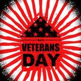 Día de veteranos en los E.E.U.U. Señale América por medio de una bandera doblada en el símbolo del triángulo de m libre illustration