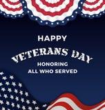 Día de veteranos feliz stock de ilustración