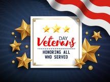 Día de veteranos Honrando a todos que sirvieron 11 de noviembre Fotografía de archivo