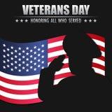 Día de veteranos Honrando a todos que sirvieron 11 de noviembre libre illustration