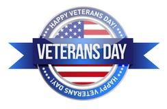 Día de veteranos. nosotros sello y bandera libre illustration