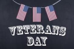 Día de veteranos y bandera americana Fotografía de archivo libre de regalías