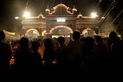 Día de Wesak en el templo budista de Maha Vihara Foto de archivo