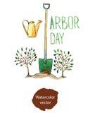 Día del árbol stock de ilustración