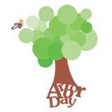 Día del árbol libre illustration