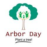 Día del árbol Logo Illustration Fotos de archivo libres de regalías
