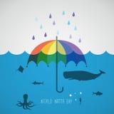 Día del agua del mundo Imagen de archivo libre de regalías