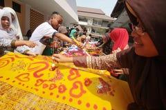 Día del batik Imagen de archivo