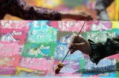 Día del batik Foto de archivo libre de regalías