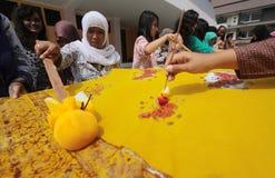 Día del batik Imágenes de archivo libres de regalías