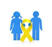 Día del cáncer de la niñez ilustración del vector