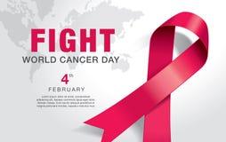 Día del cáncer del mundo ilustración del vector