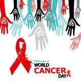 Día del cáncer del mundo Imágenes de archivo libres de regalías