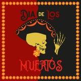 Día del cartel muerto ilustración del vector