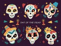 Día del cartel muerto stock de ilustración