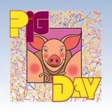 Día del cerdo Imágenes de archivo libres de regalías