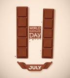 Día del chocolate del mundo stock de ilustración