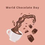 Día del chocolate del mundo Foto de archivo