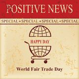Día del comercio justo de las noticias ilustración del vector
