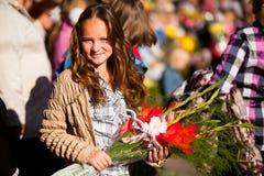 Día del conocimiento el 1 de septiembre en Rusia Fotos de archivo