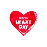 Día del corazón del mundo 29 de septiembre Imagen de archivo libre de regalías