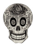 Día del cráneo del arte de los muertos Fotografía de archivo libre de regalías