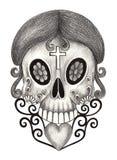 Día del cráneo del arte de los muertos Imagenes de archivo