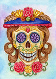 Día del cráneo del arte del festival muerto Foto de archivo