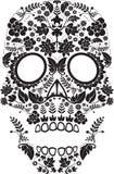 Día del cráneo muerto stock de ilustración