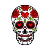 Día del cráneo muerto Flor del azúcar del cráneo libre illustration