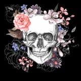 Día del cráneo y de las flores de los muertos Imagen de archivo libre de regalías