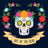 Día del ` de Dia de los Muertos del ` de la tarjeta muerta Imagen de archivo libre de regalías