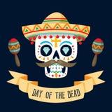 Día del ` de Dia de los Muertos del ` de la tarjeta muerta Fotografía de archivo