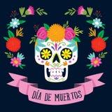 Día del ` de Dia de los Muertos del ` de la tarjeta muerta Imagen de archivo