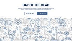 Día del diseño muerto de la bandera stock de ilustración