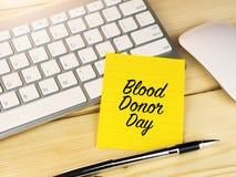 Día del donante de sangre Imágenes de archivo libres de regalías