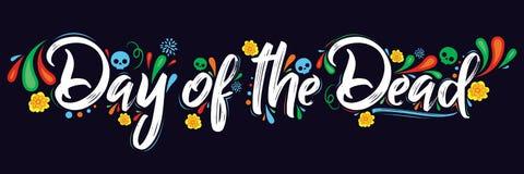 Día del ejemplo muerto de las letras del vector stock de ilustración