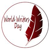 Día del escritor stock de ilustración