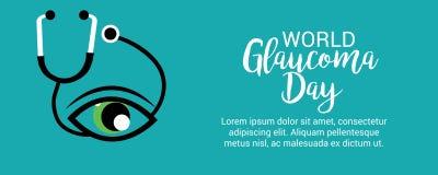 Día del glaucoma del mundo ilustración del vector