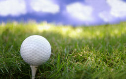 Día del golf fotografía de archivo libre de regalías