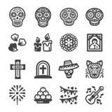 Día del icono muerto ilustración del vector