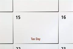 Día del impuesto Imagenes de archivo
