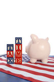Día del impuesto de los E.E.U.U., el 15 de abril, concepto Fotografía de archivo libre de regalías
