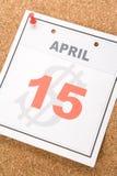 Día del impuesto del calendario Imagen de archivo libre de regalías
