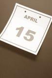 Día del impuesto del calendario Imagen de archivo